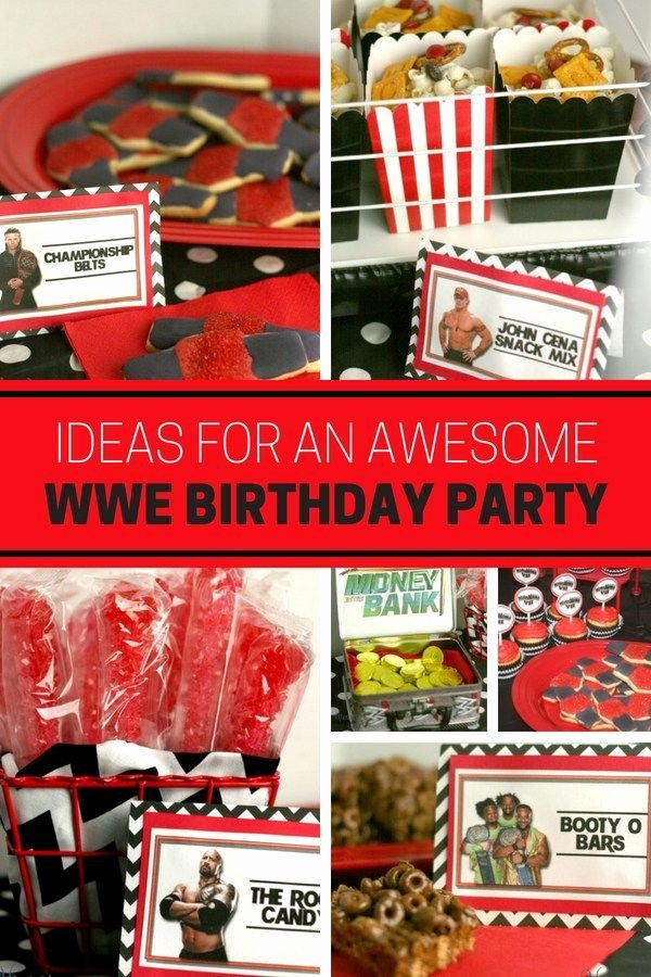 Wwe Birthday Decoration Ideas Unique Ideas for An Awesome Wwe Birthday Party