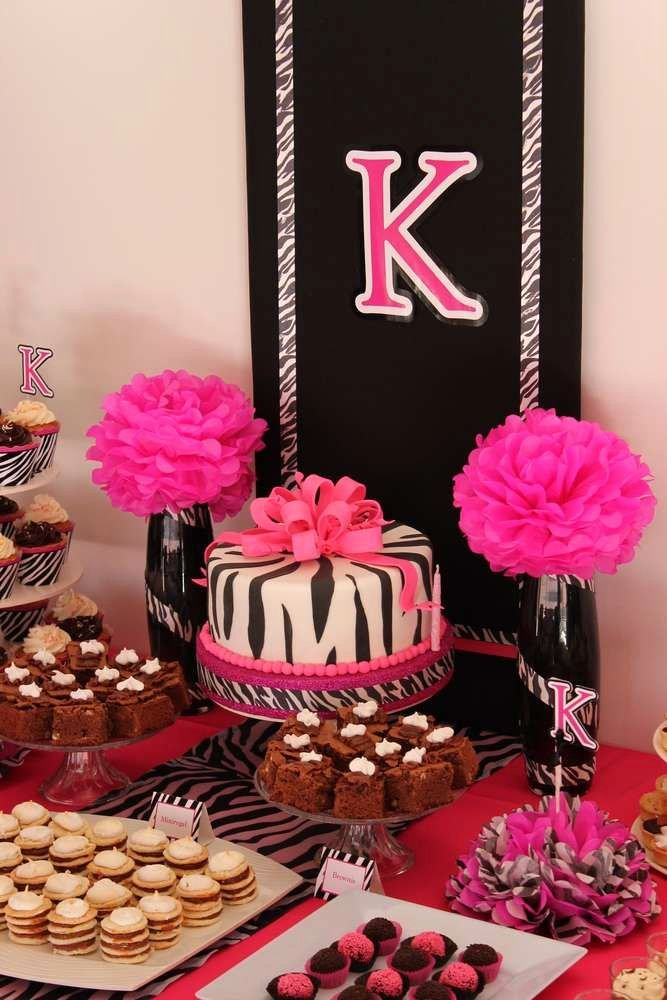 Zebra Birthday Decoration Ideas Awesome Animal Print Birthday Party Ideas