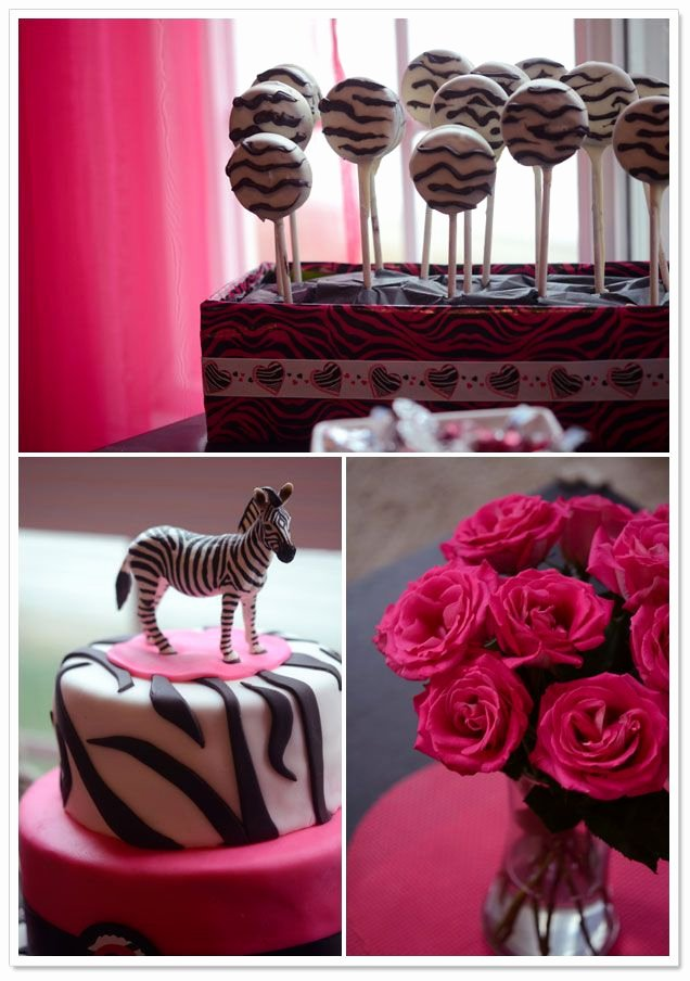 Zebra Birthday Decoration Ideas Awesome Cute Pink Zebra Birthday Party theme From Laura Kelly