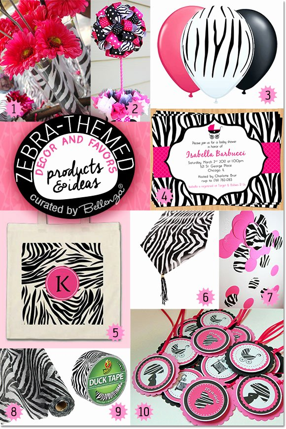 Zebra Birthday Decoration Ideas Inspirational Zebra themed Baby Shower Ideas