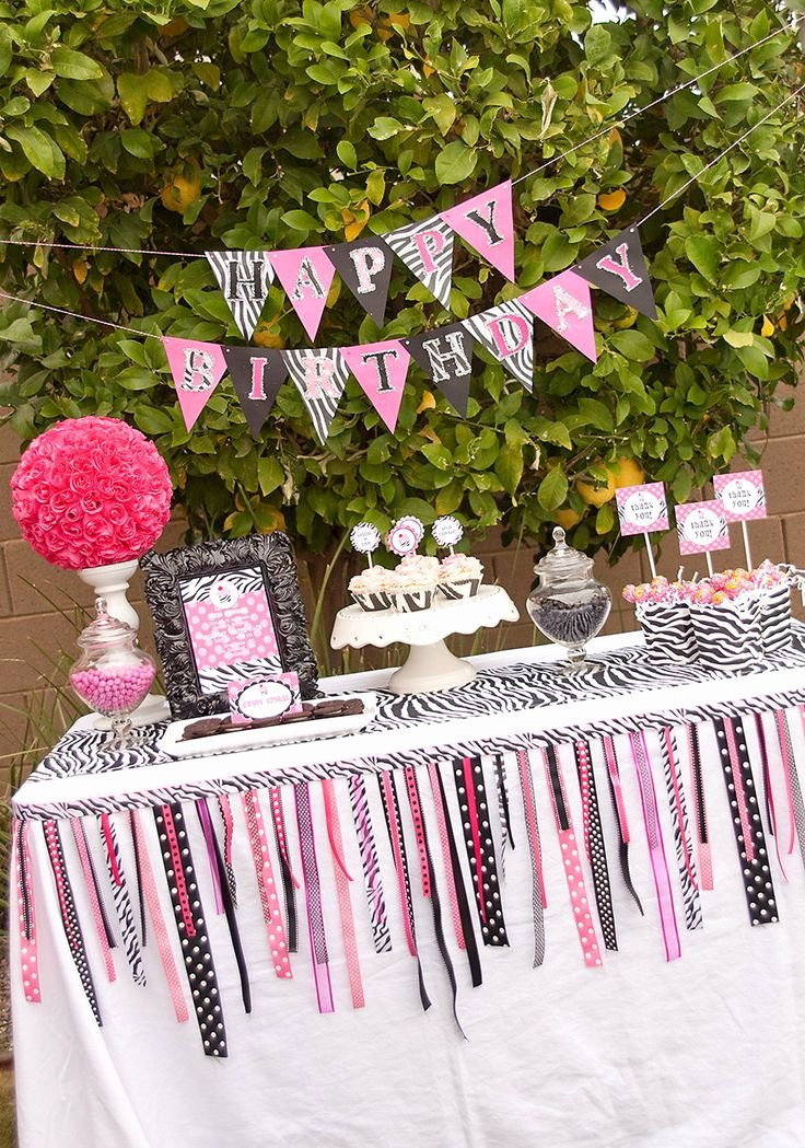 Zebra Birthday Decoration Ideas Lovely Giveaway