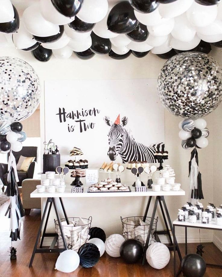 Zebra Birthday Decoration Ideas Unique Black and White Birthday Party Idea