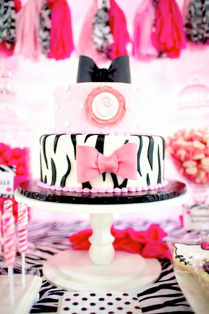 Zebra Birthday Decoration Ideas Unique Kara S Party Ideas Hello Kitty Party Ideas Supplies Decor